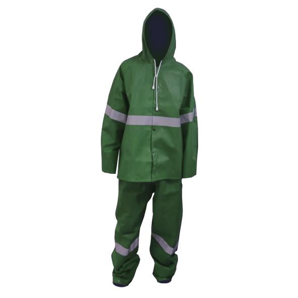סט מעיל ומכנס סערה ירוק+פס זוהר M -חדש! SIGNET